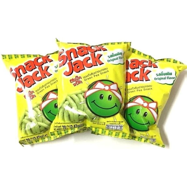 Snack Jack Green Pea Snack Original Flavour 70g