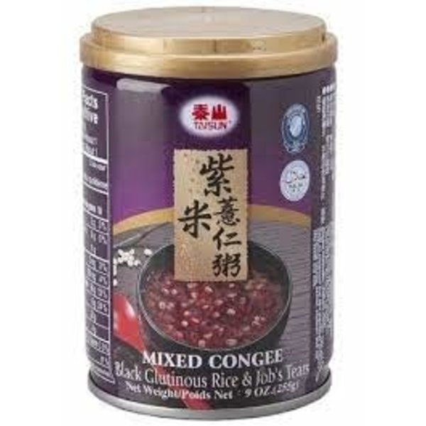 Mixed Congee With Black Glutinous Rice and Job 's Tears