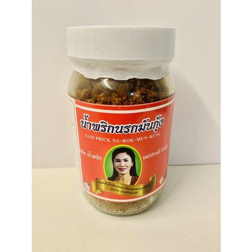 Mae Pranee Nam Prick Na Rok Mun Kung / น้ำพริกมันกุ้ง  280g Approx
