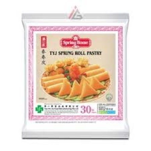 """Spring Home TYJ Spring Roll Pastry 10"""" (30 Sheets) 550g (Frozen)  PLEASE CHOOSE A.M. DELIVERY ONLY"""