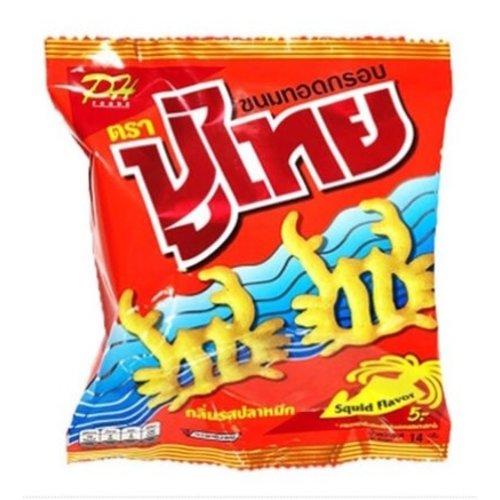 Pu Thai Pu Thai Squid Flavor snack ปูไทย 60g
