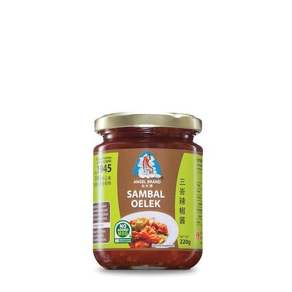 Angel Brand Sambal Oelek (Chilli Garlic Sauce) 320g Best Before 08/21