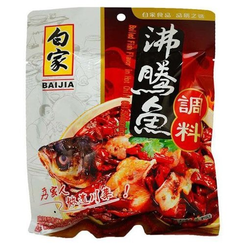 Baijia Boiled Fish Flavour in Hot Chilli oil 208g