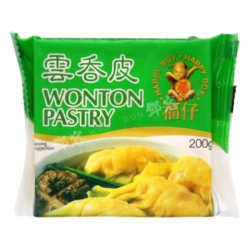 Happy Boy Wonton Pastry Frozen 200g  (Frozen)  FOR A.M. DELIVERY ONLY