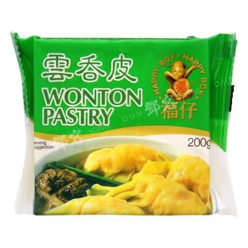 Happy Boy Wonton Pastry Frozen 200g  (Frozen)