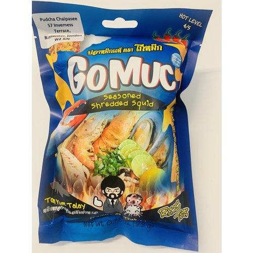 GoMuc Seasoned Shredded Squid Tom Yum Talay 22g SPECIAL OFFER Best Before 04/2021