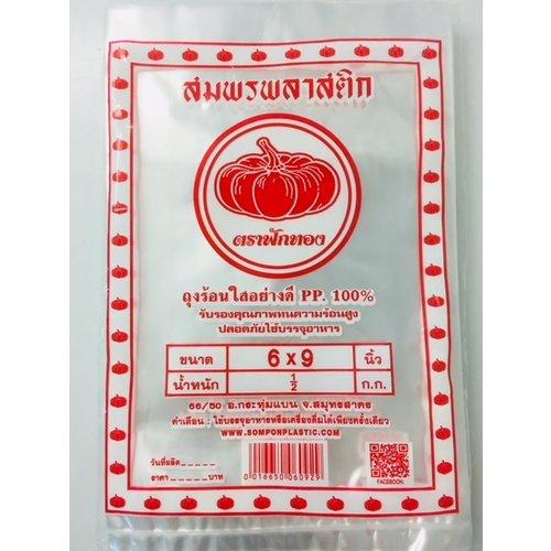 Somporn Plastic Plastic bags 6x9  ถุงร้อนใส