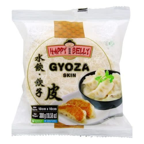 Happy Belly Gyoza Skin 300g (Size approx 10cm x 10cm) (Frozen)  FOR A.M. DELIVERY ONLY