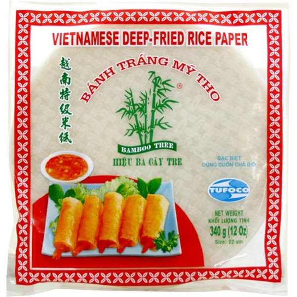 Bamboo Tree Vietnamese Deep Fried Rice Paper 22cm 340g