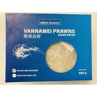 Nordic Seafood Frozen Raw Peeled & Deveined King Prawns 900g (Size 26/30) (Frozen)  PLEASE CHOOSE A.M. DELIVERY ONLY