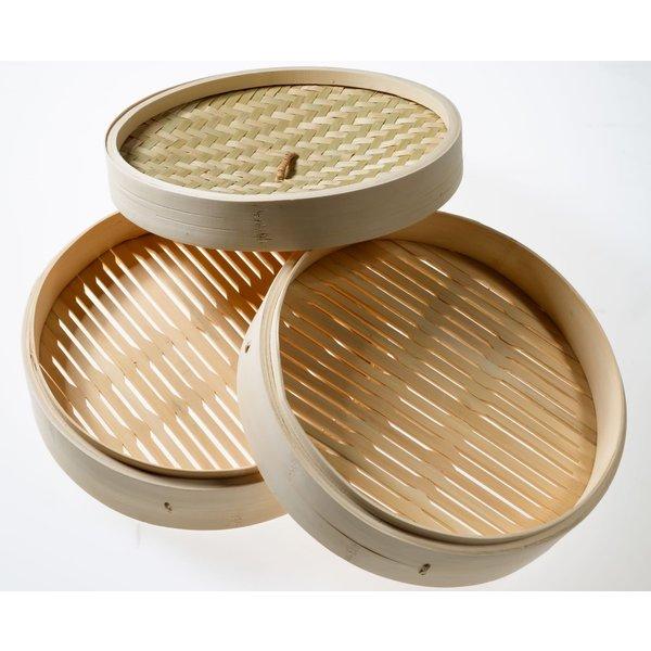 """Bamboo Steamer 8"""" (1 Steamer 1 Lid Set)"""