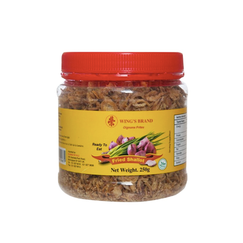 Wing's Brand Fried Shallot 250g