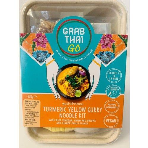 Grab Thai Turmeric Yellow Curry Noodle Kit 308g (Vegan) ชุดทำข้าวซอย