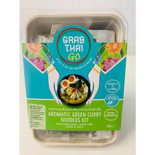 Grab Thai Aromatic Green Curry Noodle Kit 318g ชุดทำขนมจีนแกงเขียวหวาน