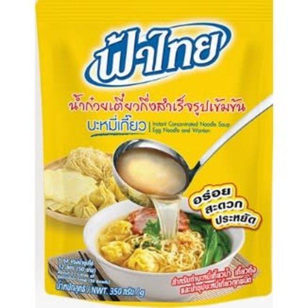 Fa Thai Instant Concentrated Noodle Soup: Egg noodle & Wonton 350g