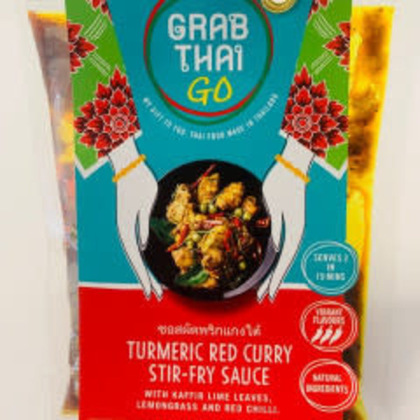Grab Thai Turmeric Red Curry Stir-Fry Sauce 53g SPECIAL OFFER BBE 09/21