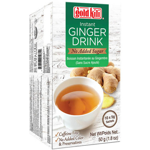 Gold Kili Ginger Drink No  Added Cane Sugar 50g (5gx10 bustine)