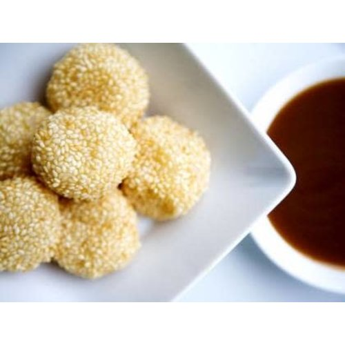 Oriental Delight Sesame Mochi Rice Ball Filled With Peanut, Sesame Seeds 268g