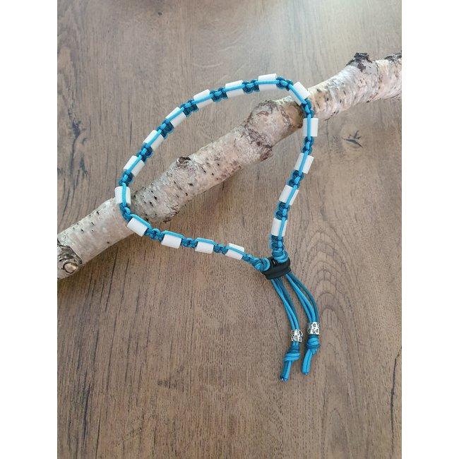 Anti Teken en Vlooienband Turquoise