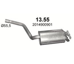 Mercedes Benz W201 190 2.0E 2.3E 2.6E Einddemper