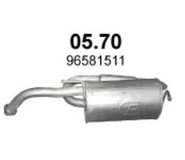 Chevrolet Matiz 0.8 Einddemper