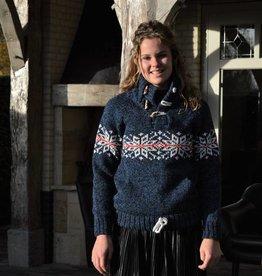 """""""Lomba"""" wollen trui met Noors patroon"""