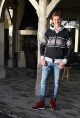 """""""Covas"""" vest met capuchon en rits in blauw."""