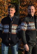 """""""Passos""""Gebreid Wollen vest in blauw met ingebreid motief"""