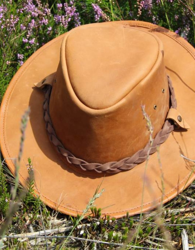 "Original south Leren ""Cowboy""hoed"