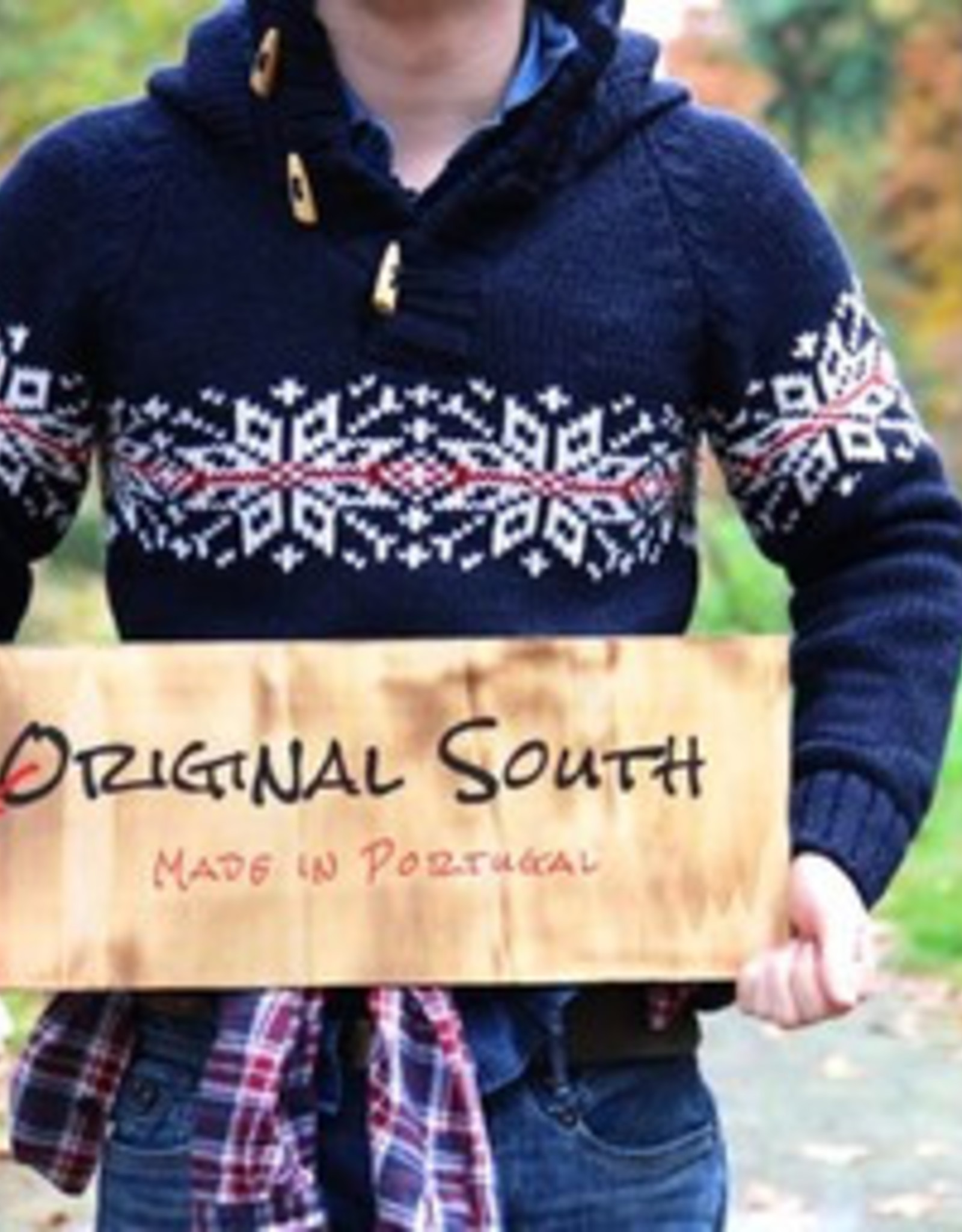 "Original south Noorse gebreide trui met capuchon ""Boim"""
