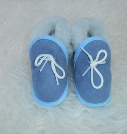 blauw babyslofjes