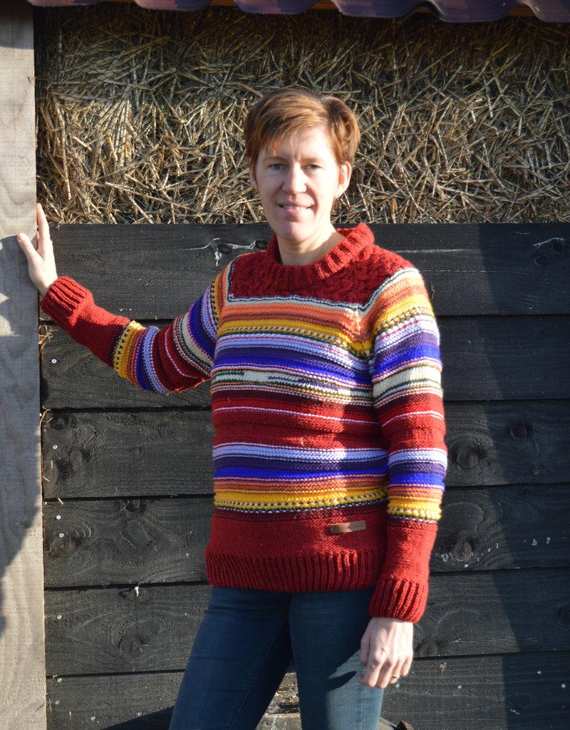"""Original south Wollen trui met vele kleuren """"Mina"""""""