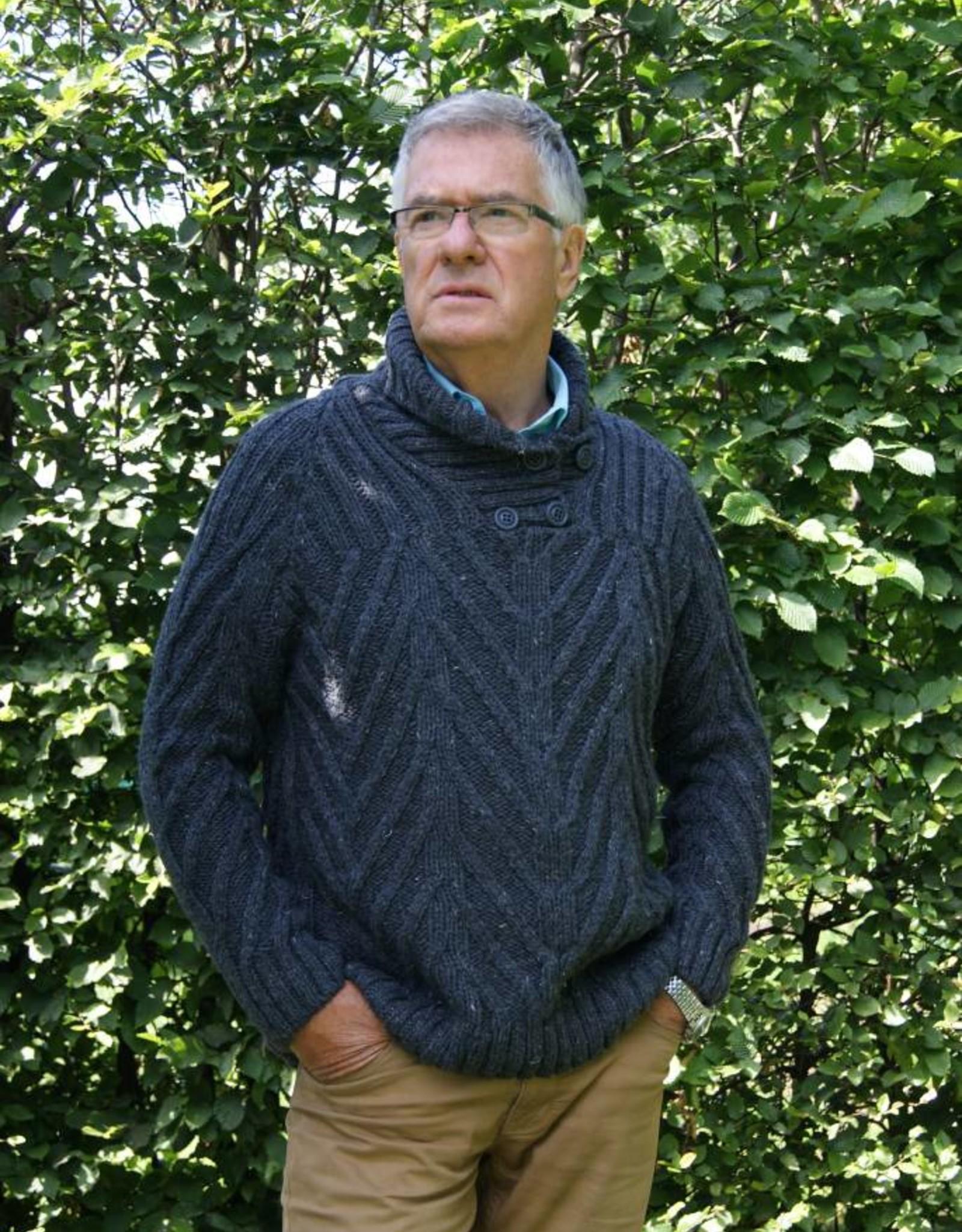 """Gebreide wollen trui met sjaalkraag """"Estoril""""."""
