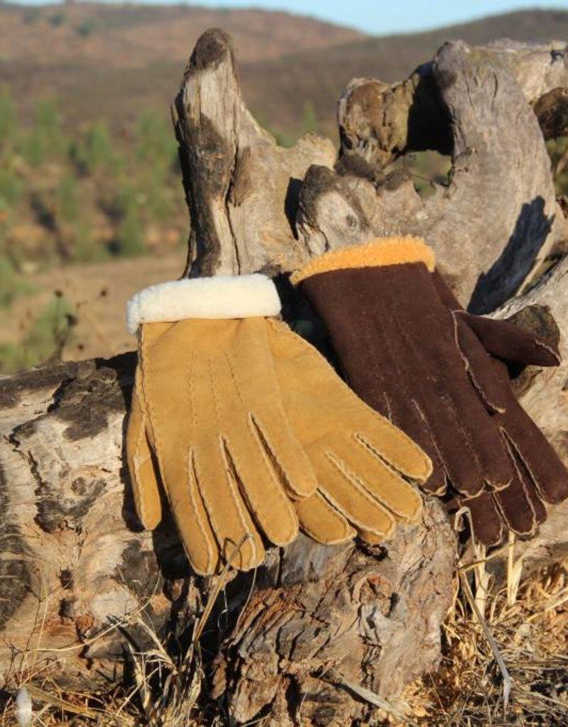 """Wollen handgemaakte lamsvacht handschoen """"Messines""""."""