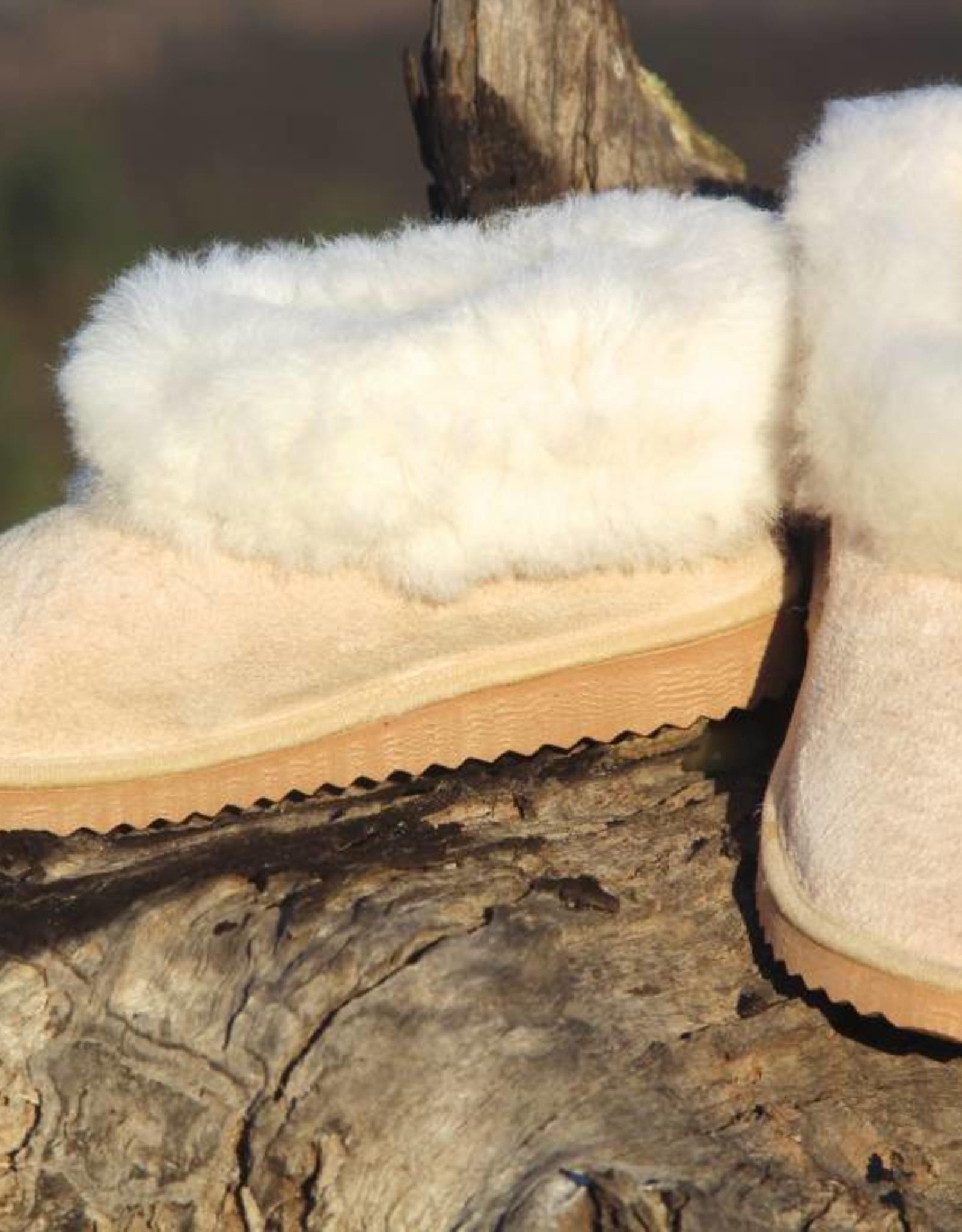 """Wollen sloffen / pantoffels van lamsvacht """"Monchique"""""""