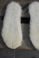 wollen inleg zooltjes verlijmd op foam laag