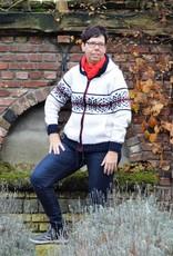 """""""Gandra"""" vest met capuchon en rits in wit."""