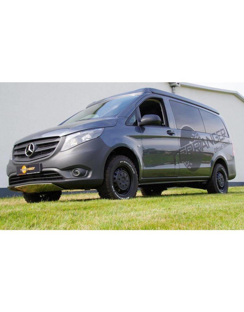 Fahrzeug-Höherlegung Mercedes Vito / VIANO / V-Klasse 447 2WD, um ca. 45 mm Terranger