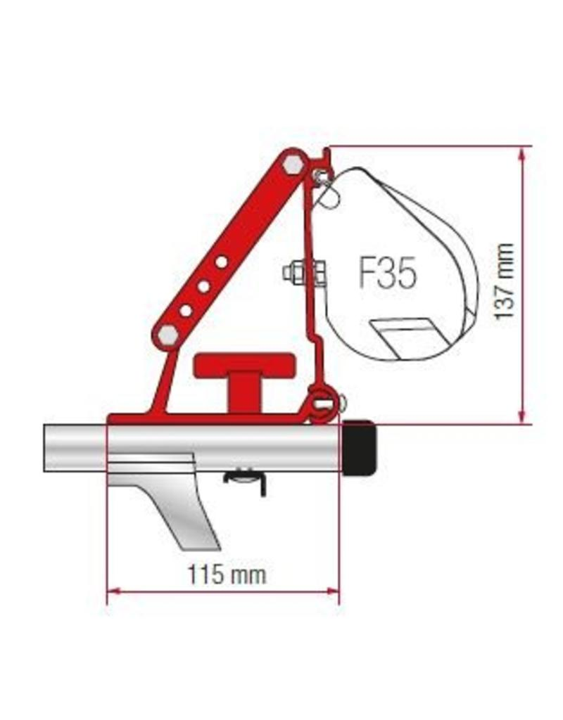 FIAMMA F35 PRO KIT AUTO Installation sur la galerie de toit
