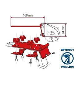 FIAMMA F35 PRO KIT STANDARD Montage an Dachreling