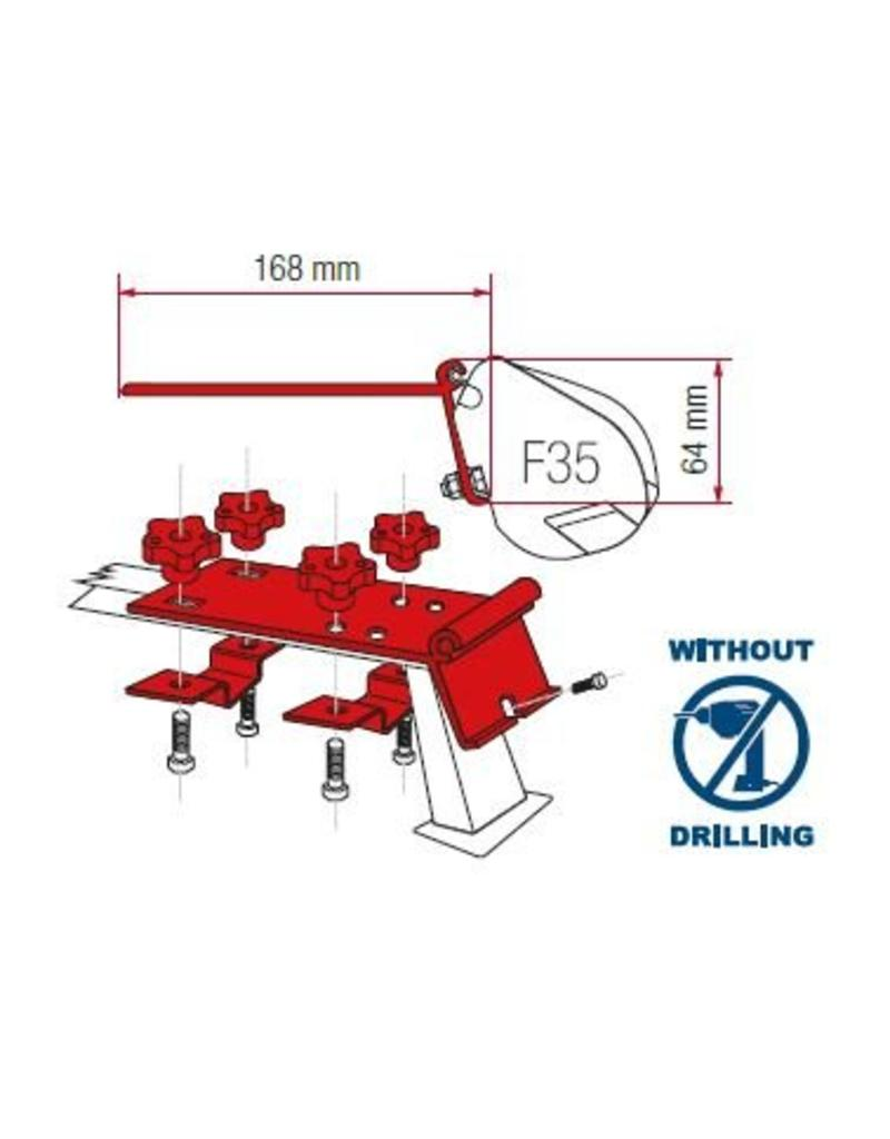 FIAMMA F35 PRO KIT STANDARD Montage an Dachreling