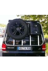 Kanister-Haltemodul für unser modulares Heckträgersystem für VW T5/T6 und MB Vito/Viano