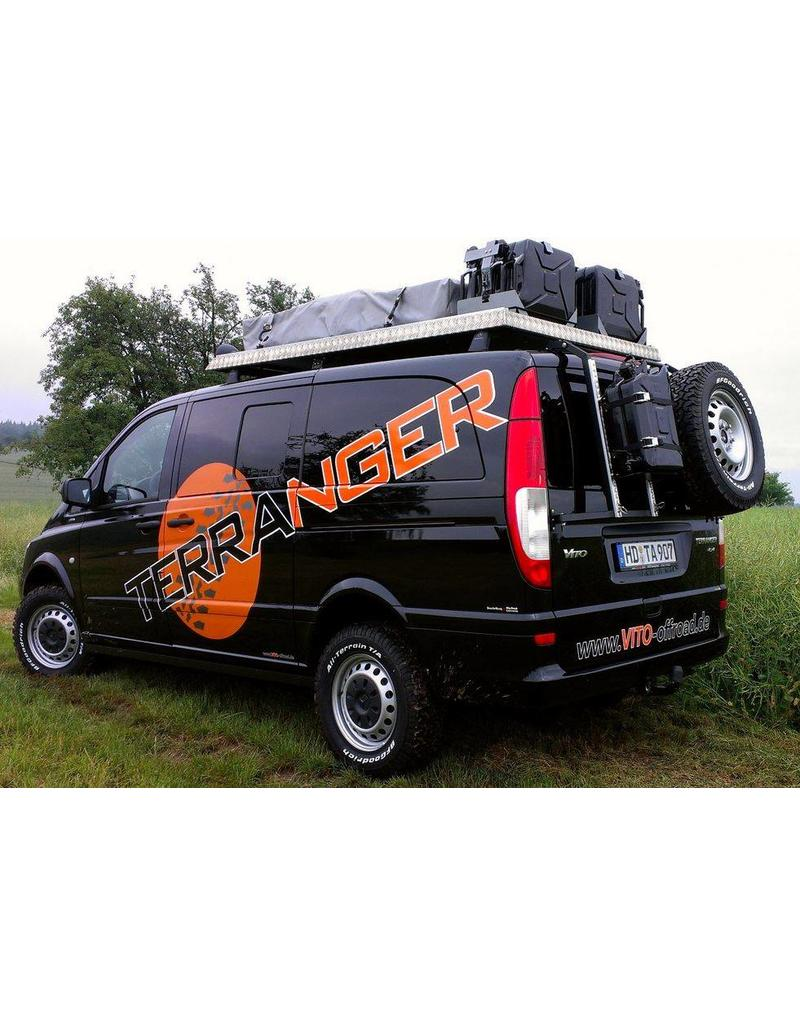 Canister holding module  for our modular back carrier for VW T5/T6 and MB Vito/Viano/V-class