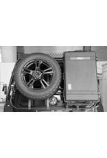 Peli-Box-Haltemodul für unser modulares Heckträgersystem für VW T5/T6 und MB Vito/Viano