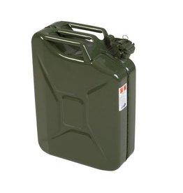 Bidon, 20 litres, en tôle d'acier, olive