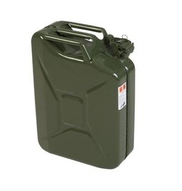 jerrycan, 20 litres, steel, olive