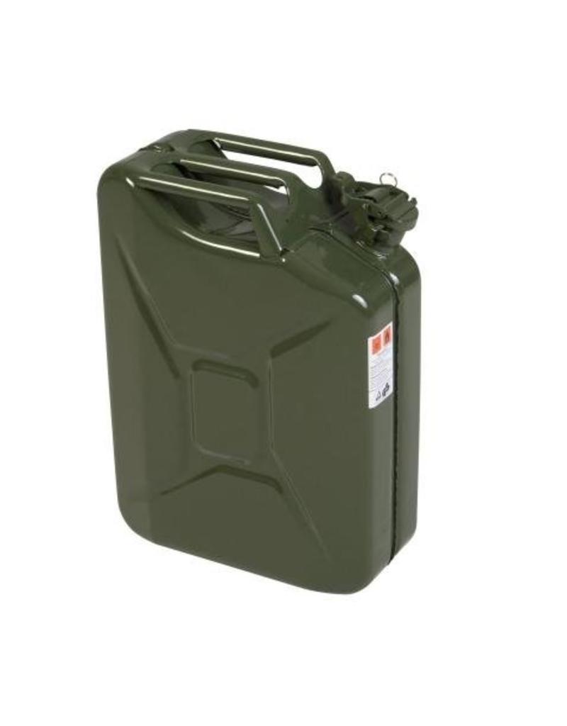 Kanister, 20 Liter, aus Stahlblech, oliv
