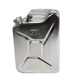 jerrycan, 20 litres, stainless steel