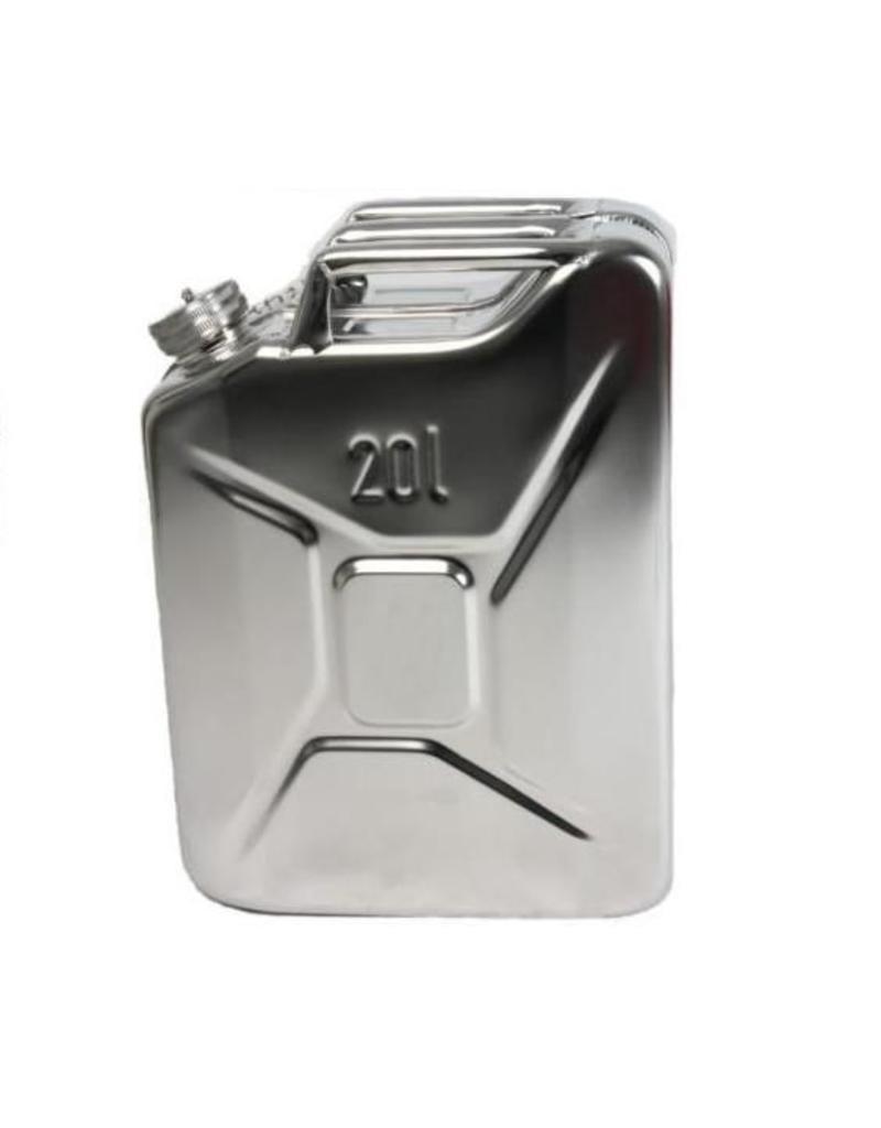 Bidon, 20 litres, en tôle d'acier inoxydable