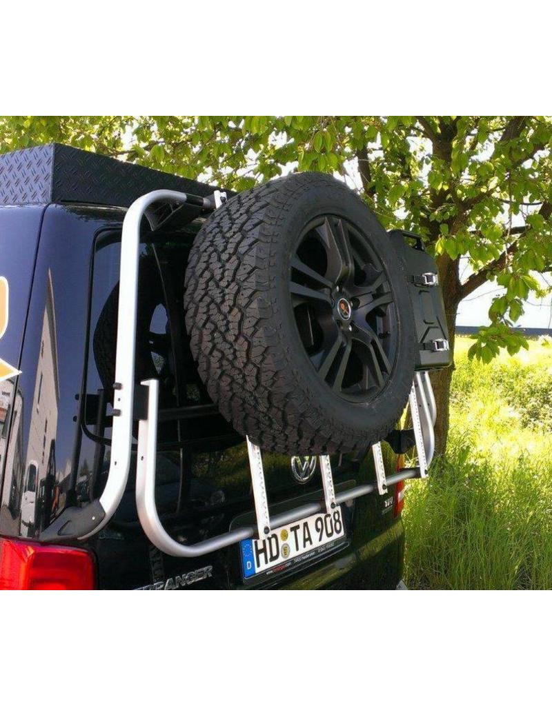 "VW T5 Rear carrier ""modular"" suitable fo carrying bicycles, spare wheel, canister, etc."